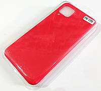 Чохол для Huawei P40 lite матовий Silicone Case Full Cover Macarons Color Червоний