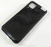 Чохол для Huawei P40 lite матовий Silicone Case Full Cover Macarons Color Чорний