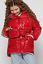 Лаковая зимняя куртка для девочек с сумочкой X-Woyz 8300 размеры 38, фото 2