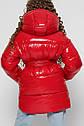 Лаковая зимняя куртка для девочек с сумочкой X-Woyz 8300 размеры 38, фото 3