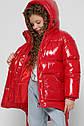Лаковая зимняя куртка для девочек с сумочкой X-Woyz 8300 размеры 38, фото 4