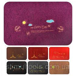 Придверні килимок декоративний з вишивкою 38*58 см