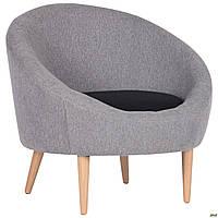 Мягкое кресло AMF Eclipse Сидней серое в стиле Лофт для кафе и гостиной в доме