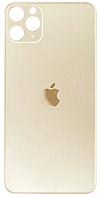 Задняя крышка для iPhone 11 Pro Max, золотистая, копия высокого качества