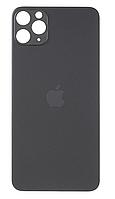 Задняя крышка для iPhone 11 Pro Max, серая, Space Gray, оригинал , в комплекте стекло камеры