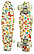 Скейт (пенни борд) Penny board со светящимися колесами разные цвета, фото 7