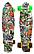 Скейт (пенни борд) Penny board со светящимися колесами разные цвета, фото 8