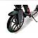 Самокат двухколесный SCOOTER LUX JUMP до 120 кг. черный/белый, фото 2