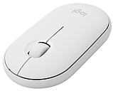 Мышь LOGITECH Pebble M350 Wireless, WHITE (L910-005716) , фото 2