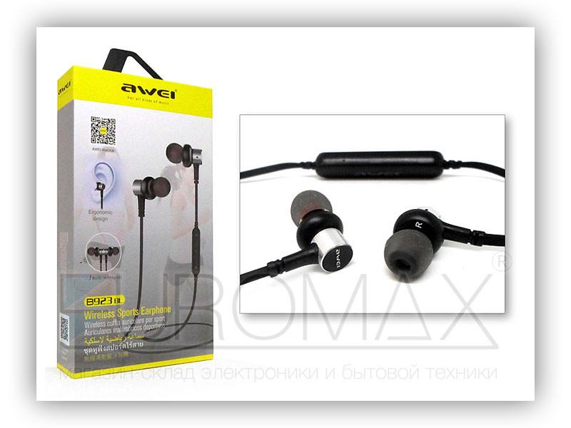 Наушники вакуумные с микрофоном Bluetooth AWEI B923BL-BT