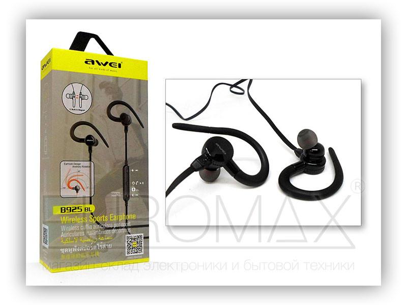 Наушники вакуумные с микрофоном Bluetooth AWEI B925BL-BT