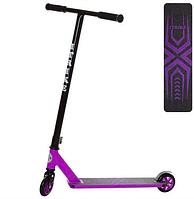 Самокат трюковый iTrike фиолетового цвета до 80 кг