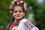 Бежево-бордовий сучасний віночок для дорослих та дітей, фото 2
