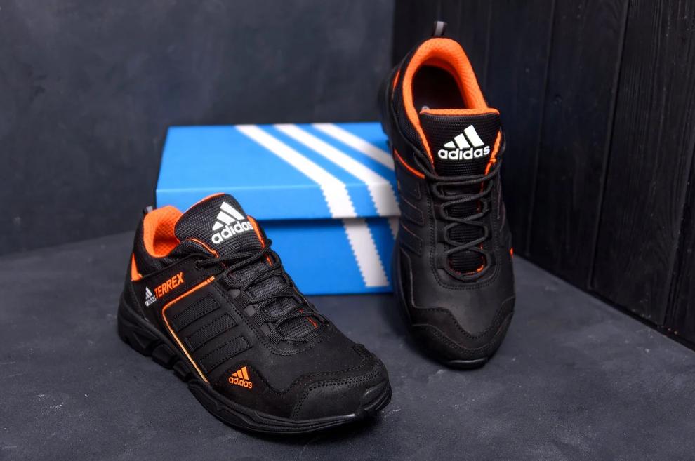Мужские кожаные кроссовки Adidas Terrex Orange (реплика)