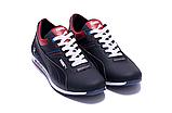 Мужские кожаные кроссовки в стиле Puma BMW синие, фото 7