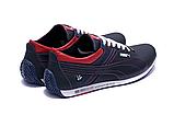 Мужские кожаные кроссовки в стиле Puma BMW синие, фото 8