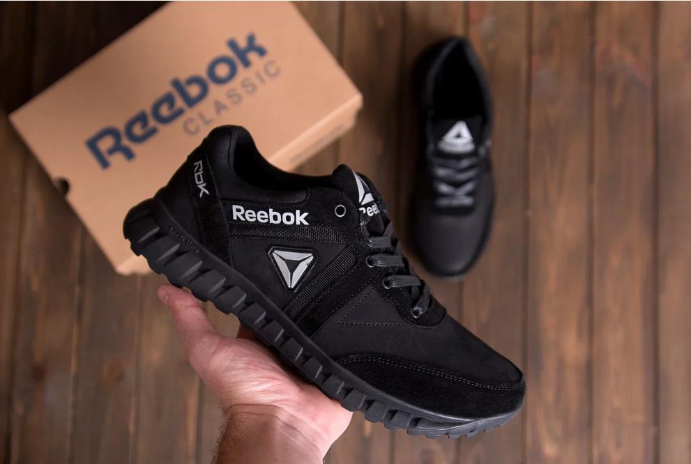 Чоловічі шкіряні кросівки Reebok SPRINT TR Black репліка