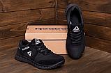 Мужские кожаные кроссовки Reebok SPRINT TR Black реплика, фото 4