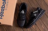 Мужские кожаные кроссовки Reebok SPRINT TR Black реплика, фото 5