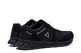 Мужские кожаные кроссовки Reebok SPRINT TR Black реплика, фото 7