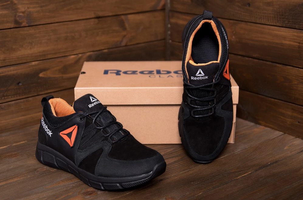 Мужские кожаные кроссовки в стиле Reebok Classic Tracking Orange