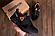 Мужские кожаные кроссовки в стиле Reebok Classic Tracking Orange, фото 4