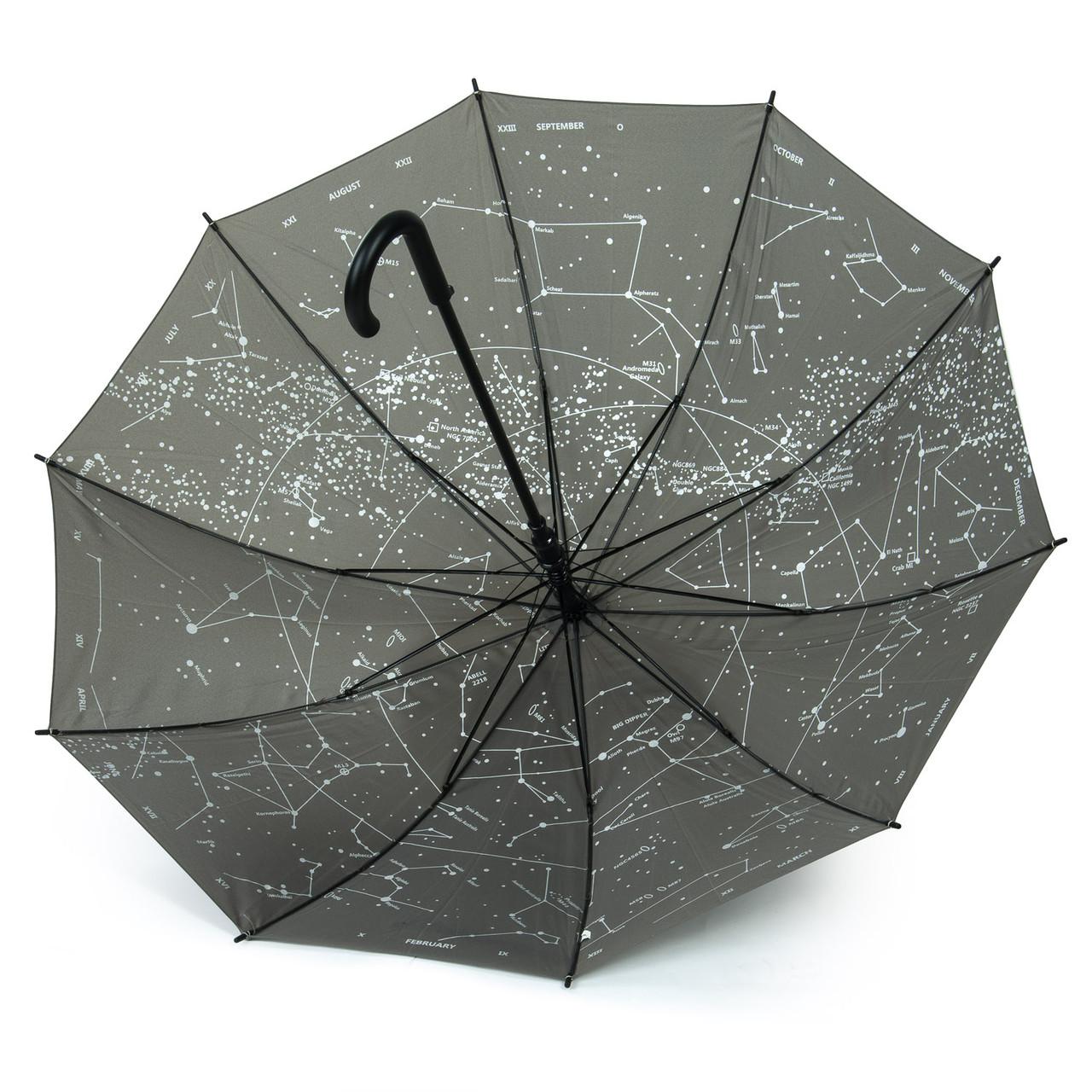 Зонт женский трость Созвездия разные цвета