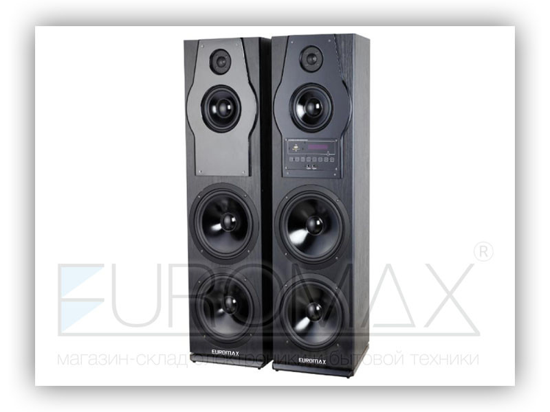 Акустические колонки EUROMAX 32х33х110см, 2х160Вт, Bluetooth, караоке, пульт ДУ (EU2530)