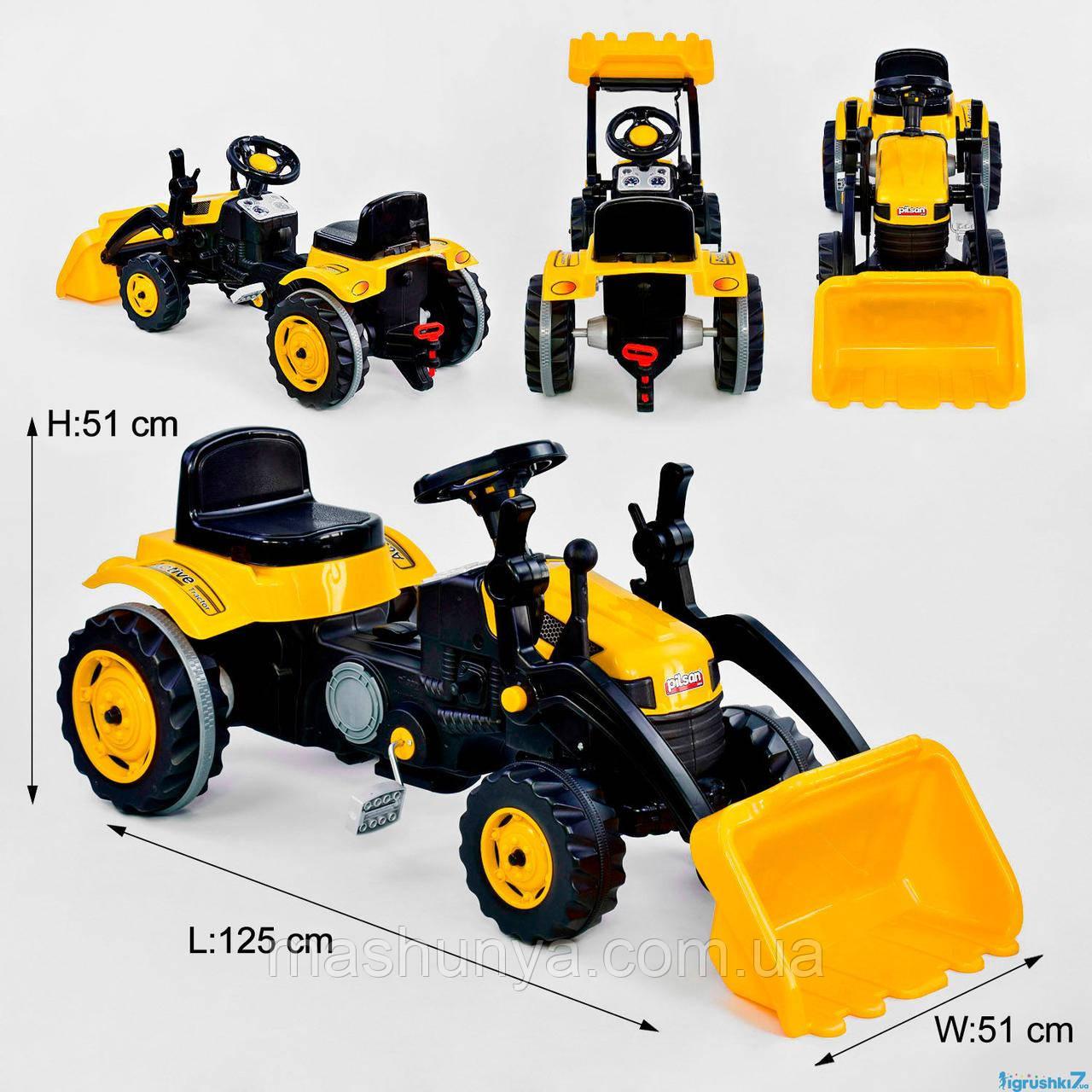 Трактор с ковшом детский педальный Pilsan 07-315 Пром