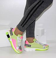 Яркие женские кроссовки неонового цвета YIMEILI