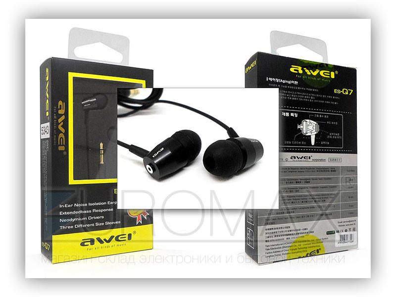 Наушники вакуумные с микрофоном AWEI ES-Q7