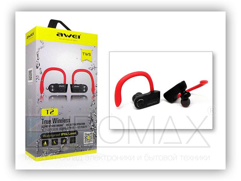 Наушники вакуумные с микрофоном Bluetooth беспроводные AWEI T2-BT