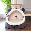 Лежанка домик с игрушкой для кошек и собак 40 см, фото 8