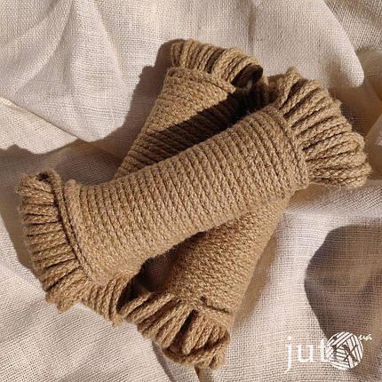 Шнур джутовый (плетеный) 6 мм, фото 2