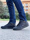 Мужские кеды Step Wey 5547 черные натуральная кожа весна-осень, фото 3