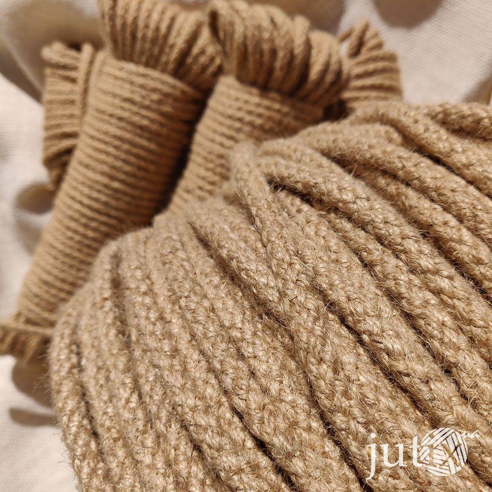 Шнур джутовый (плетеный) 8 мм