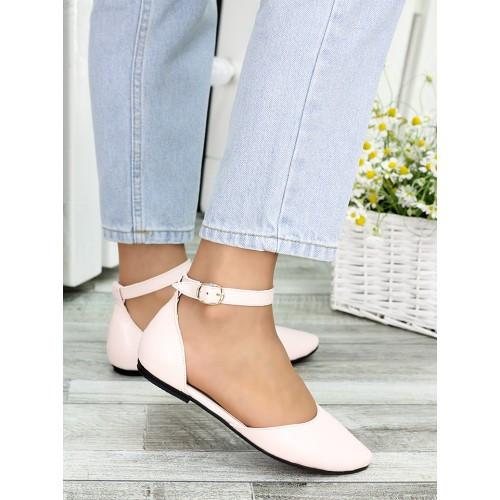 Туфлі, босоніжки жіночі пудрові натуральна шкіра