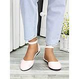 Туфлі, босоніжки жіночі пудрові натуральна шкіра, фото 4