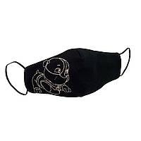"""Детская защитная маска для лица """"Doggie"""" черная #E/S, фото 1"""