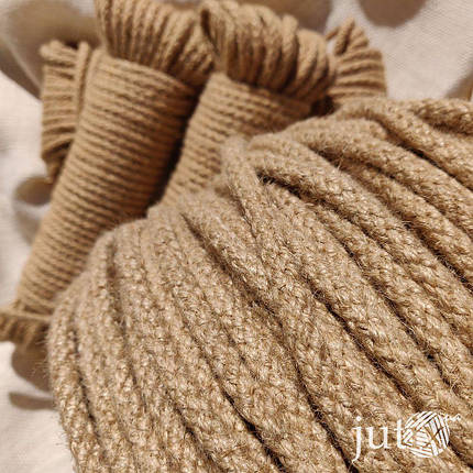 Шнур джутовый (плетеный) 8 мм - 100 метров, фото 2