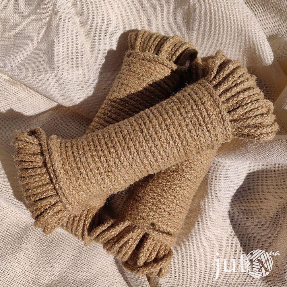 Шнур джутовый (плетеный) 6 мм - 20 метров