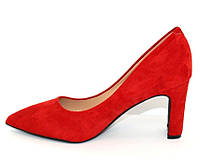 Женские туфли на каблуке в красном цвете