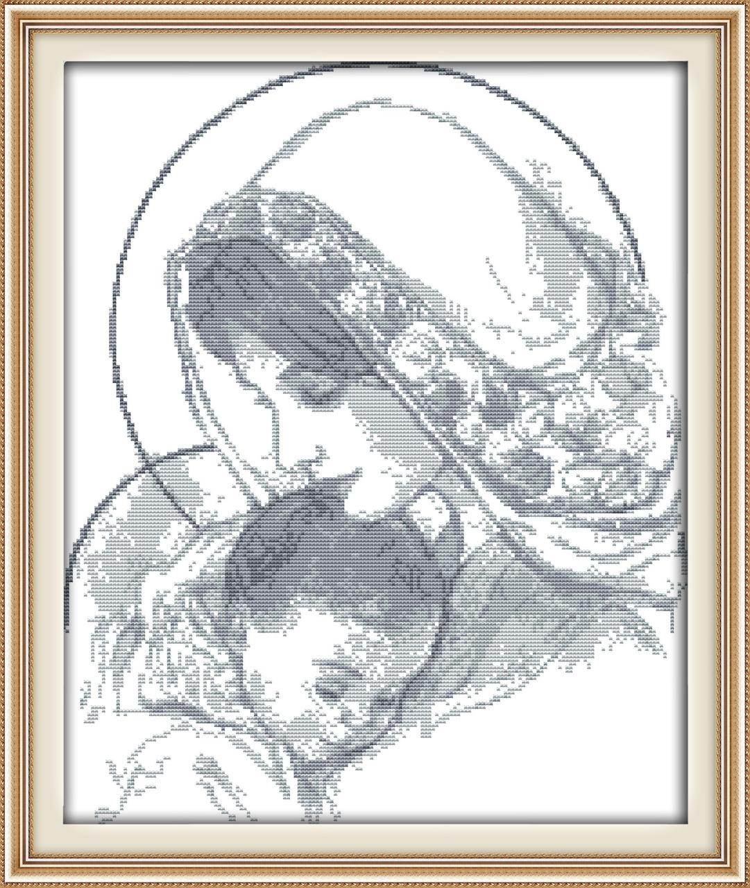 Набор для вышивания крестиком NKF Божья матерь с младенцем R716 14ст
