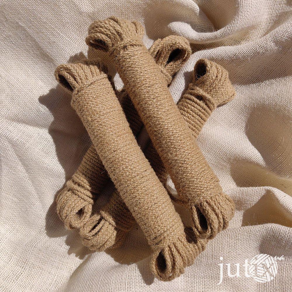 Шнур джутовый (плетеный) 4 мм - 20 метров