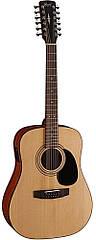 Гитара электроакустическая CORT AD810-12E (Open Pore) + порожек, зажим, копилка и 2 медиатора