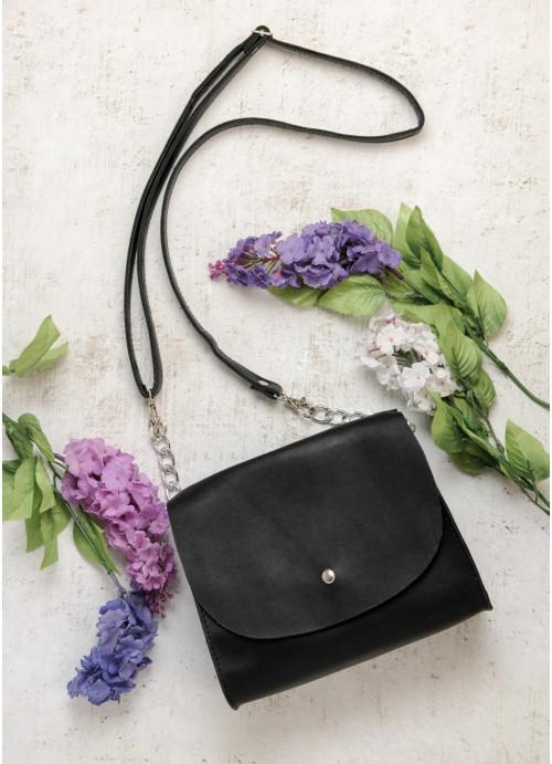 Черная женская маленькая сумочка клатч Сумочка через плечо