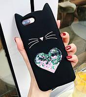 3D Чехол для Xiaomi Redmi Note 8 Котик с ушками и сердечком, фото 1