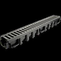 Водоотвод под НАЕЗД транспорта!!! ПВХ решетка, аналог чугунной ZMM MAXPOL 1000*131*98 мм класс В125