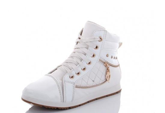 Ботинки женские белые Lion-A1-демисезонные