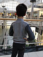 Детский кардиган для мальчика BIMBUS Италия 153IFFL010 серый, фото 5
